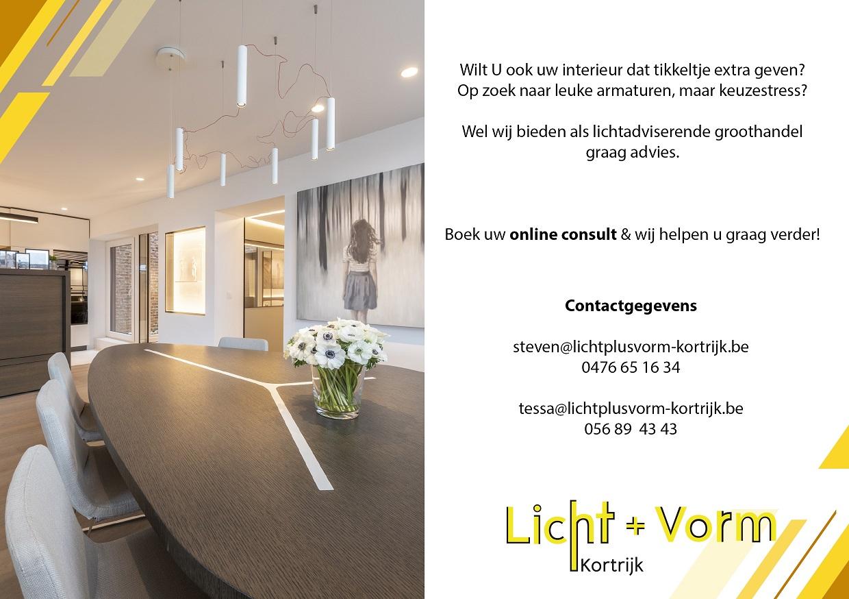 Online consult Licht+vorm Kortrijk
